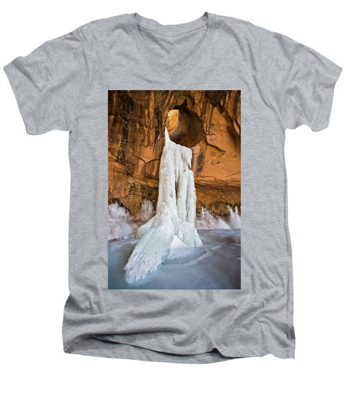 Frozen Waterfall Men's V-Neck T-Shirt