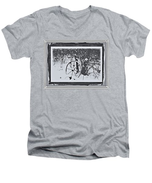 Frozen In Time Men's V-Neck T-Shirt by Cathy Harper