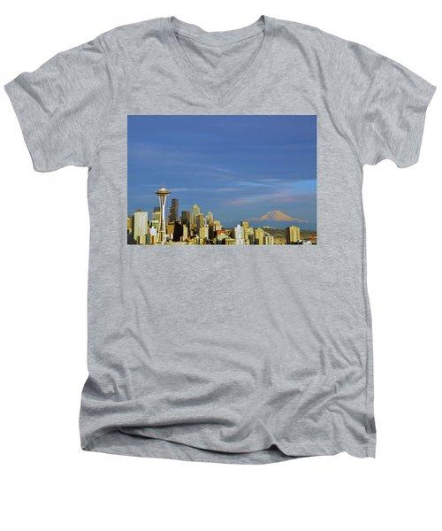 Frpm Kerry Park Too Men's V-Neck T-Shirt