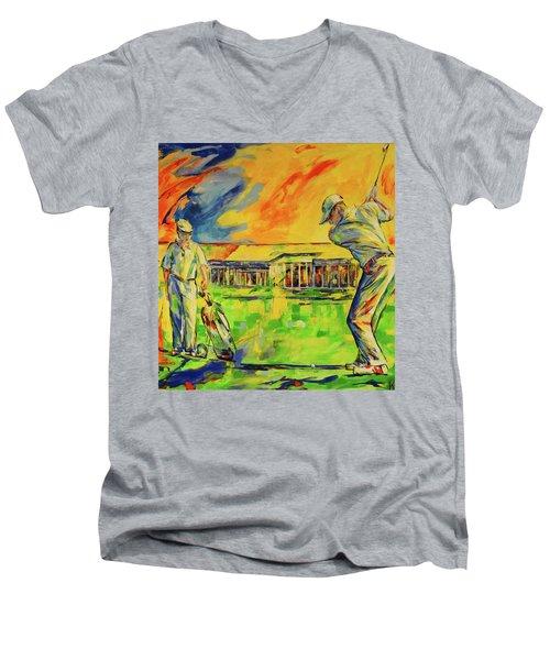 Fruehen Morgen Spiel   Early Morming Game Men's V-Neck T-Shirt
