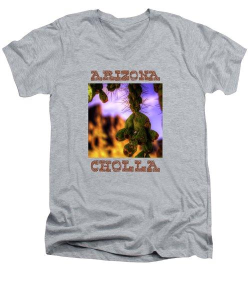 Fruit Of The Teddy Bear Cholla Men's V-Neck T-Shirt