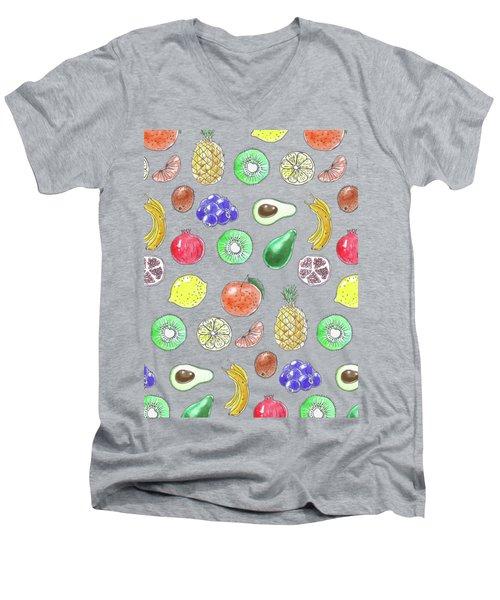 Fruit Pattern  Men's V-Neck T-Shirt