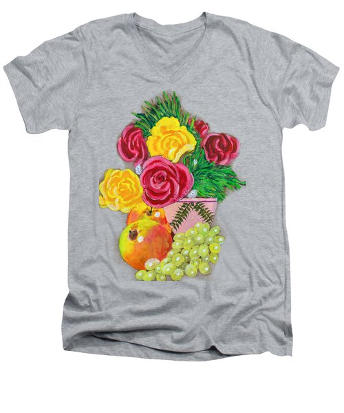 Fruit Petals Men's V-Neck T-Shirt