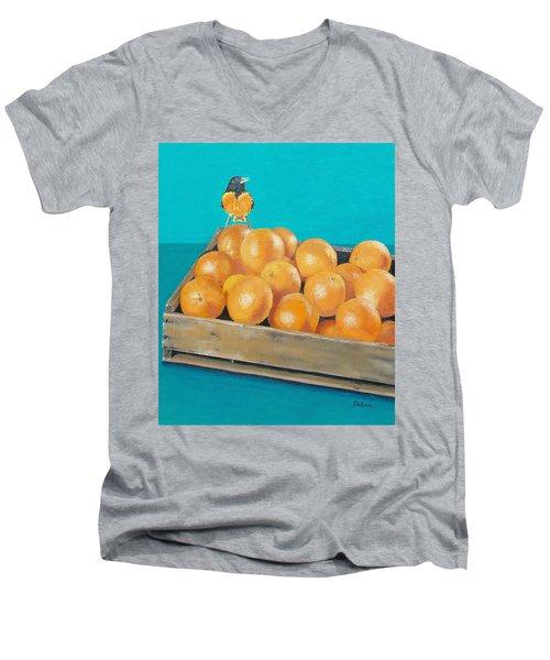 Frustrated Oriole Men's V-Neck T-Shirt by Susan DeLain