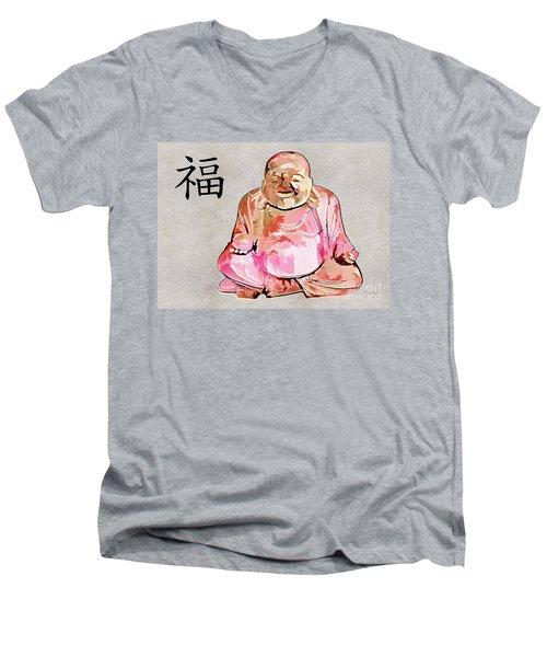 Fu - Good Fortune Symbol Men's V-Neck T-Shirt