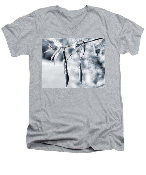 Fuchsia Bud Men's V-Neck T-Shirt by Keith Elliott