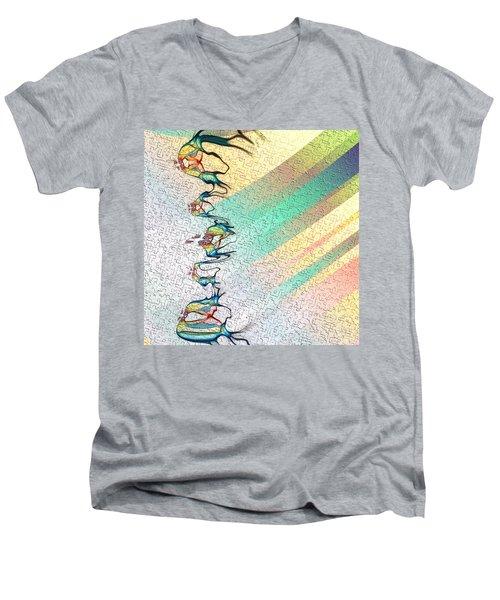 Fuga De Tinta Men's V-Neck T-Shirt