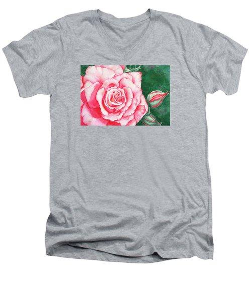 Full Bloom Men's V-Neck T-Shirt