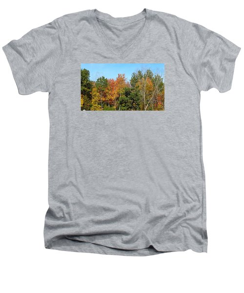 Full Fall Men's V-Neck T-Shirt by Jana E Provenzano