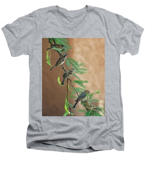 Men's V-Neck T-Shirt featuring the photograph Full House Op17 by Mark Myhaver