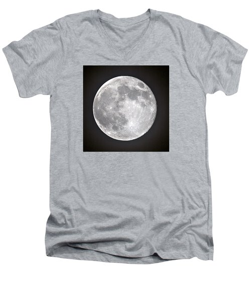 Full Moon Men's V-Neck T-Shirt