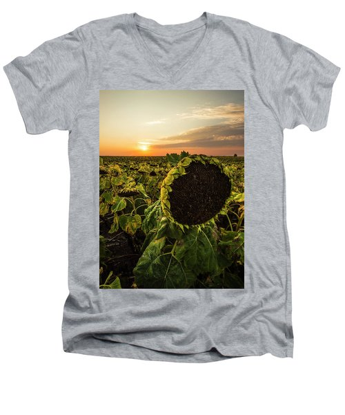 Men's V-Neck T-Shirt featuring the photograph Full Of Seed  by Aaron J Groen