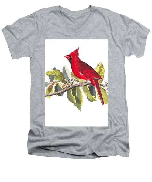 Men's V-Neck T-Shirt featuring the photograph Full Red by Munir Alawi
