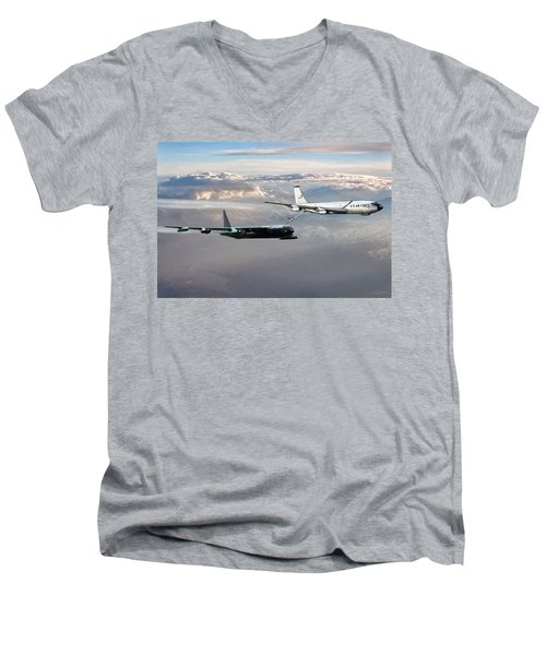Men's V-Neck T-Shirt featuring the digital art Full Service by Peter Chilelli