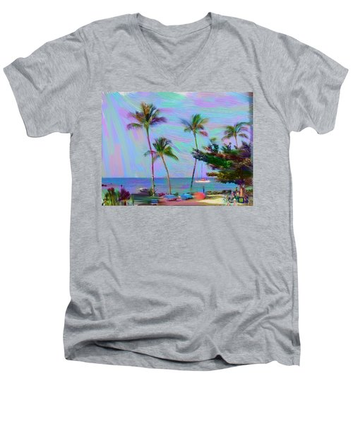 Fun At The Beach Men's V-Neck T-Shirt