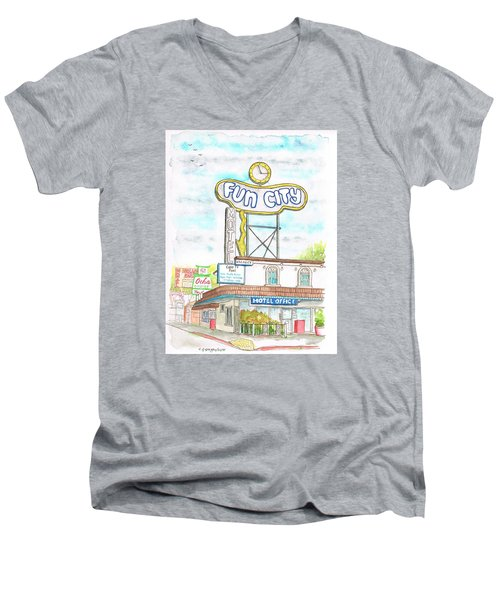 Fun City Motel, Las Vegas, Nevada Men's V-Neck T-Shirt