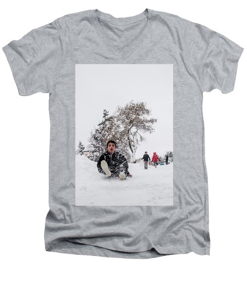 Fun On Snow-2 Men's V-Neck T-Shirt
