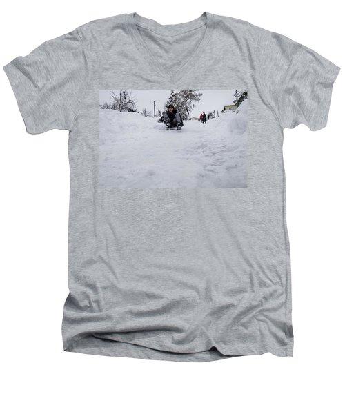 Fun On Snow-3 Men's V-Neck T-Shirt