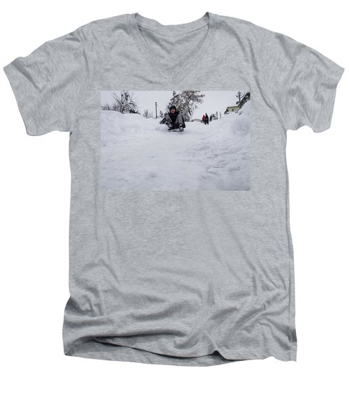 Fun On Snow-3 Men's V-Neck T-Shirt