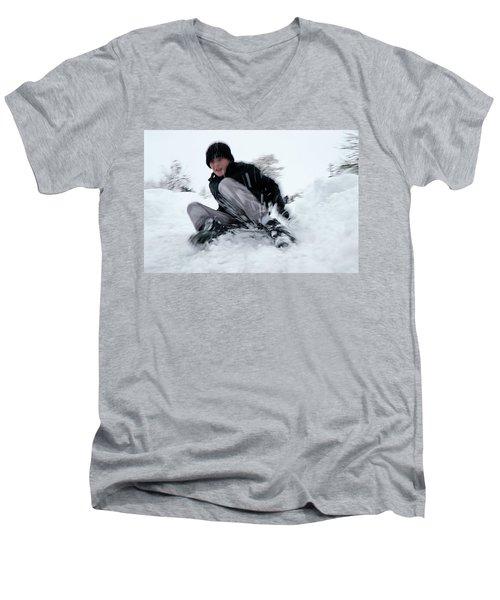 Fun On Snow-4 Men's V-Neck T-Shirt