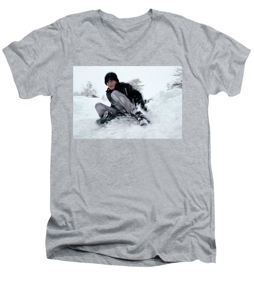 Fun On Snow-4 Men's V-Neck T-Shirt