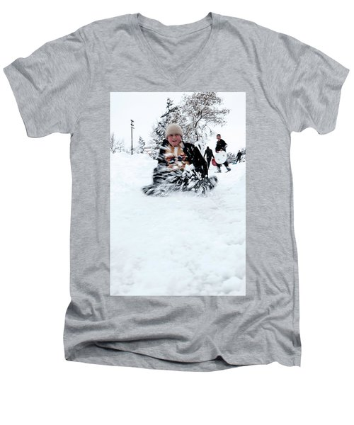 Fun On Snow-5 Men's V-Neck T-Shirt