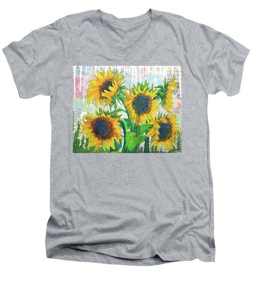Funflowers Men's V-Neck T-Shirt