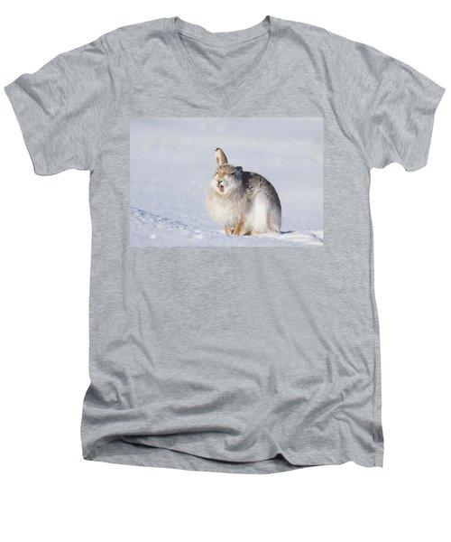 Funny Face - Mountain Hare - Scottish Highlands  #13 Men's V-Neck T-Shirt
