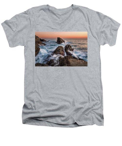 Fury Of The Sea Men's V-Neck T-Shirt