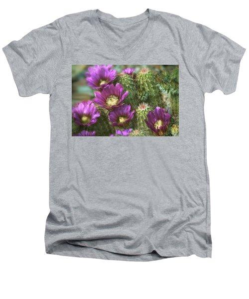 Men's V-Neck T-Shirt featuring the photograph Fuschia Passion  by Saija Lehtonen