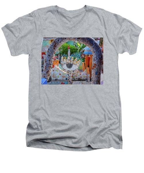 Men's V-Neck T-Shirt featuring the photograph Fusterlandia Havana Cuba by Joan Carroll