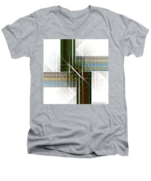 Future  Buildings Men's V-Neck T-Shirt by Thibault Toussaint
