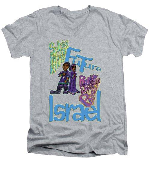 Future Israel Men's V-Neck T-Shirt