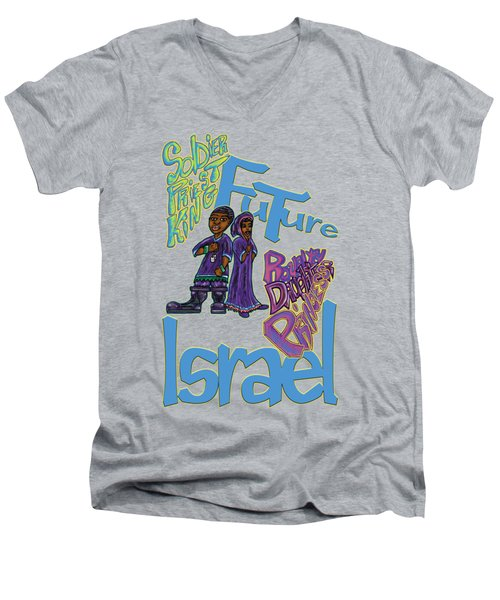 Future Israel Men's V-Neck T-Shirt