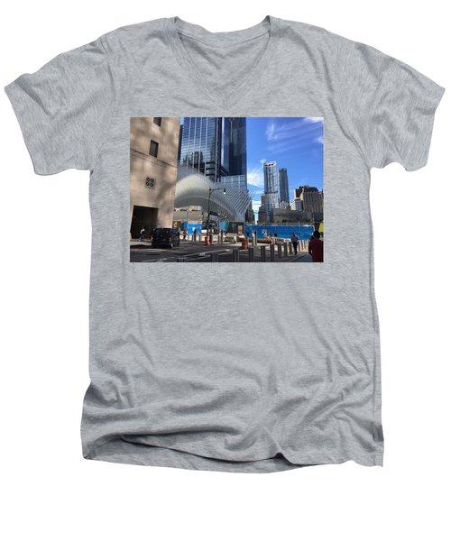 Futuristic City Men's V-Neck T-Shirt