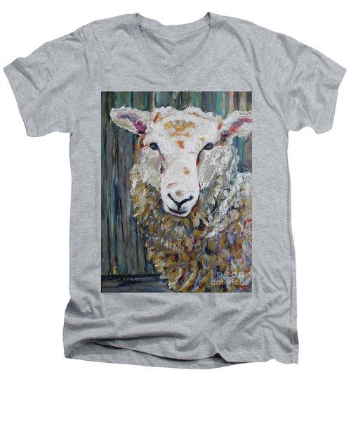 Fuzzy Men's V-Neck T-Shirt