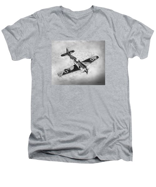 Fw-109a Men's V-Neck T-Shirt by Douglas Castleman