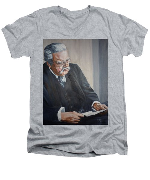 G K Chesterton Men's V-Neck T-Shirt