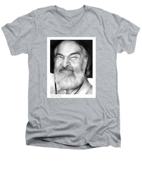 Gabby Hayes Men's V-Neck T-Shirt by Greg Joens