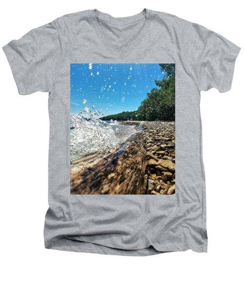 Galaxy Splash Men's V-Neck T-Shirt by Nikki McInnes