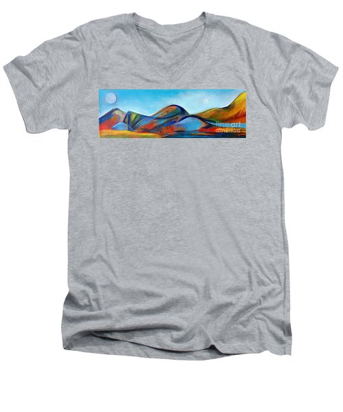 Galaxyscape Men's V-Neck T-Shirt by Elizabeth Fontaine-Barr