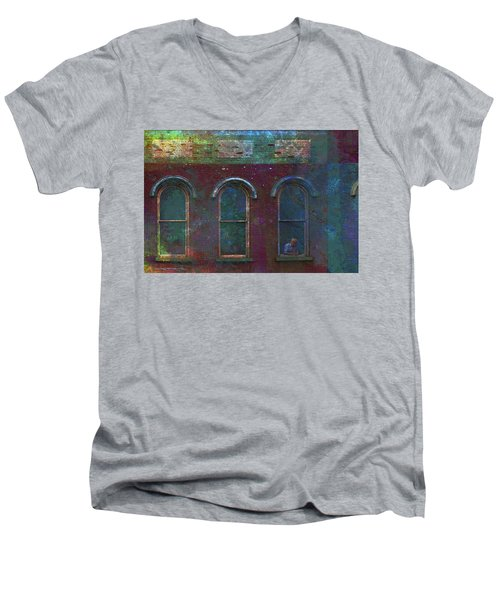 Galesburg Windows 2 Men's V-Neck T-Shirt