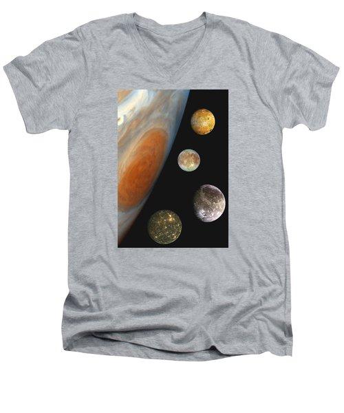 Galilean Moons Of Jupiter Men's V-Neck T-Shirt
