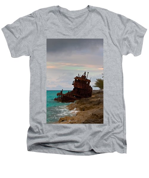 Gallant Lady Aground Men's V-Neck T-Shirt