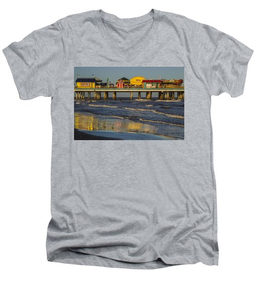 Galveston Pleasure Pier  Men's V-Neck T-Shirt