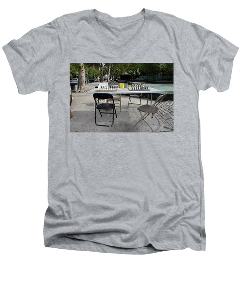 Game Of Chess Anyone Men's V-Neck T-Shirt by Terry Wallace
