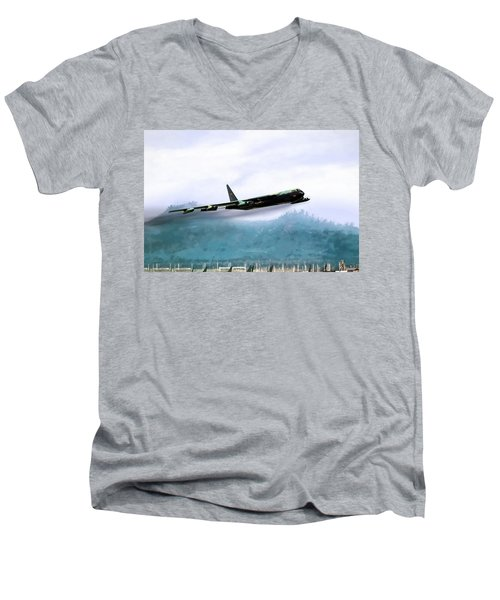 Game Time Men's V-Neck T-Shirt by Peter Chilelli
