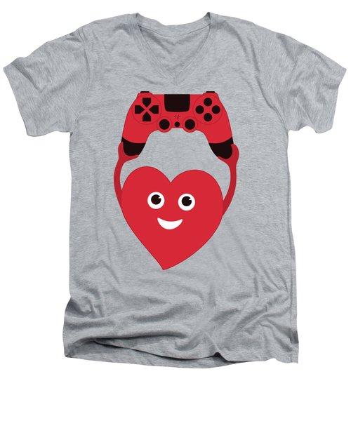 Gamer Heart Men's V-Neck T-Shirt
