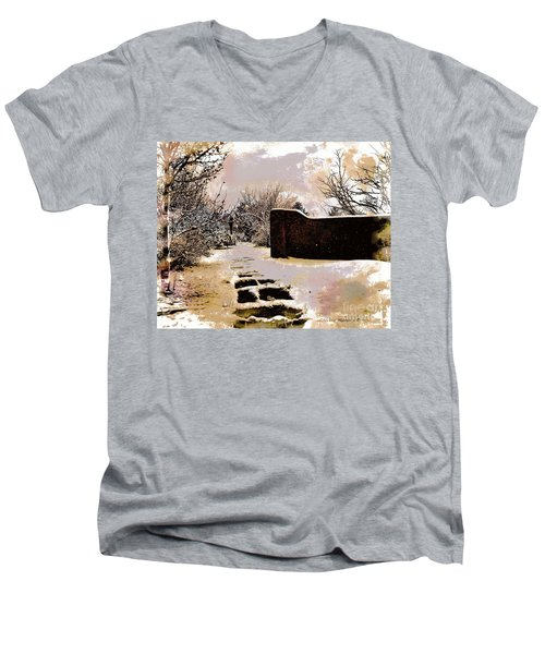Garden Art Print  Men's V-Neck T-Shirt
