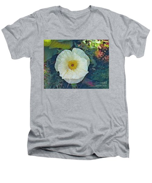 Men's V-Neck T-Shirt featuring the photograph Garden Beauty by Kathie Chicoine